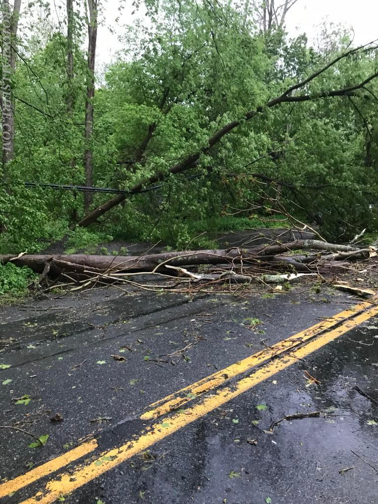 One of many blocked roads.