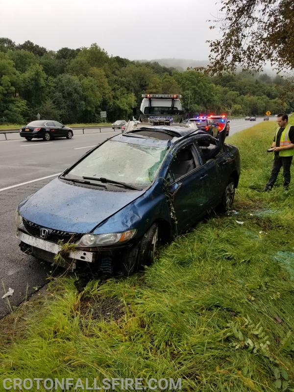 Operating on I-684 during rush hour can be dangerous for firefighters.