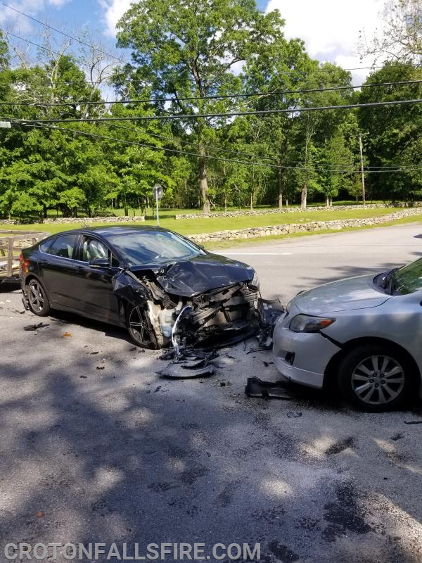 A crash at the intersection of Grant and Hawley Roads.