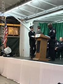 FF Castro is congratulated by County Executive Rob Astorino